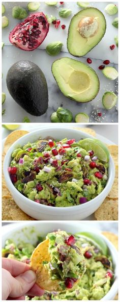 Charred Brussels Sprout, Bacon, and Toasted Sesame Seed Guacamole - SO amazing! A must make for guacamole lovers!