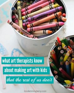 What art therapists know about making art with kids that the rest of us don't. These tips are easy to implement—the hard part is knowing what to do. Here's your cheat sheet.
