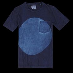 UNIONMADE - BLUE BLUE JAPAN - Hand Dyed Tee in Indigo