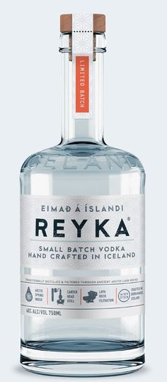 Reyka Vodka, crafted by hand in small batches in Borgarnes, Iceland, filtered through ancient lava rocks and made from the purest Icelandic spring water, only Reyka captures a clean taste with a crisp, smooth finish.