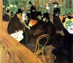 Al Moulin Rouge, 1892-93, olio su carta, Henri de Toulouse-Lautrec. Art Institute, Chicago, USA.