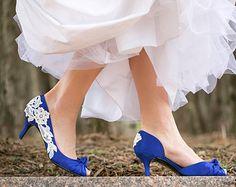 f742d663577c Wedding Shoes - Royal Blue Bridal Heels
