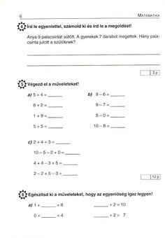 MATEMATIKA FELADATLAPOK 1. OSZTÁLY - tanitoikincseim.lapunk.hu Math Class, Line Chart, Sheet Music, Album, Teaching, Archive, Life, High School Graduation, Education