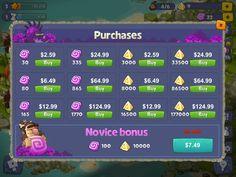 Adventure Era | IAP Shop | UI HUD User Interface Game Art GUI iOS Apps Games | www.girlvsgui.com