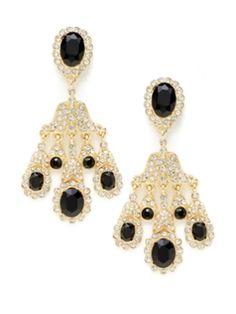 Elegant crystal chandelier earrings