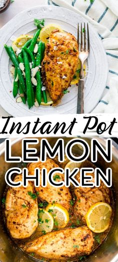 A little bit of tang and lots of flavour and no oven needed with this yummy Instant Pot Lemon Chicken Best Instant Pot Recipe, Instant Recipes, Instant Pot Dinner Recipes, Healthy Dinner Recipes, Chicken Recipe Instant Pot, Instantpot Chicken Recipes, Healthy Crockpot Chicken Recipes, Healthy Recipes With Chicken, Good Recipes For Dinner