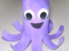 Pictures gallery of easy kids crafts Crafts for Kids: Easy Craft Ideas for Every Holiday and Season . Paper Roll Crafts, Paper Crafts For Kids, Craft Kids, Kindergarten Crafts, Preschool Crafts, Cute Crafts, Crafts To Do, Octopus Crafts, Recycling For Kids