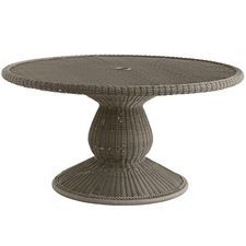 """Sunset Pier Round Dining Table - 60"""" Gray"""