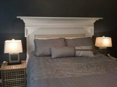Old fireplace mantel