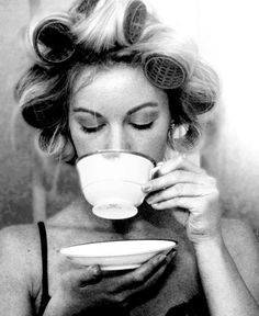 ☕ #Curlers #coffee drinker... ☕ That first cup...