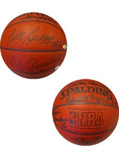 cba63798130 1968-1969 Boston Celtics Autographed / Signed Indoor / Outdoor Basketball  College Football Teams,