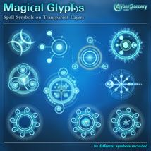 Magical Glyphs - Spell Symbols 1 is a collection of magical symbols on transparent layers to equip your magic users with spellcasting effects. Different Symbols, Graphic Design Studios, Glyphs, Runes, Magick, Spelling, Concept Art, Messages, 2d