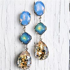 Blue Opal Moonlight Drop Earrings by Collection