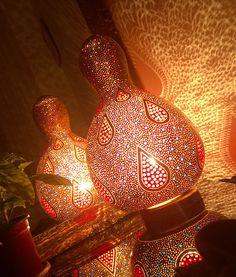 Acyrilic Gold White Large Size Glass Evil Eye Best Seller Gourd Lamp Night Light Unique Birthday Gift Idea Boho Home Decor
