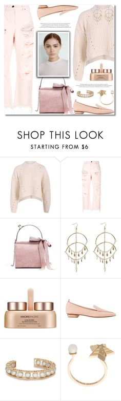 """Soft Pastel Outfit"" by defivirda on Polyvore featuring Alexander Wang, AmorePacific, Nicholas Kirkwood, Lele Sadoughi and Delfina Delettrez"