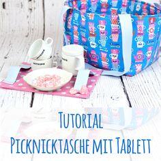 kostenloses Schnittmuster Anleitung Tutorial für eine Picknicktasche mit Tablett aus Hamburger Liebe Teatime Five oclock