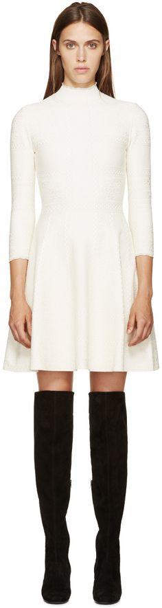 Alexander McQueen - White Lace A-Line Dress