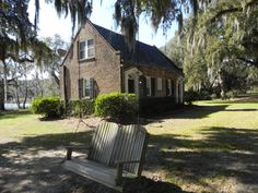 """For the first anniversary of our """"relationship"""" (after not seeing each other for 36 years since high school), Tom took me to this romantic plantation off the coast of South Carolina. The pic is of the little cottage we stayed in on the plantation. Talk about romantic..."""