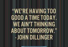 - John Dillinger in Public Enemies (2009)