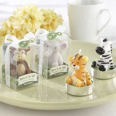 Find the best safari baby shower favors! Get the top favor ideas that all your guests will love. Unique and creative safari baby shower favor ideas Cadeau Baby Shower, Best Baby Shower Favors, Baby Shower Candle Favors, Baby Favors, Baby Shower Parties, Baby Shower Themes, Baby Boy Shower, Shower Ideas, Baby Showers