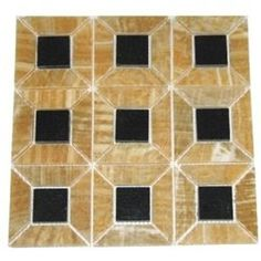 4x4 Sample of Honey Onyx 3Dimensional Polished Mosaic Tiles with Absolute Black Granite Insert >>> Continue to the product at the image link. This Amazon pins is an affiliate link to Amazon.