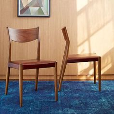 Tate Leather Dining Chair (also available upholstered in charcoal tweed) #westelm