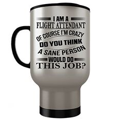 Flight Attendant Travel Mug - Flight Attendant Gifts - St...