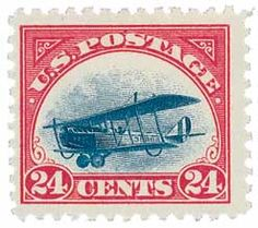 1924 air mail United States postage stamp, depicting the Curtiss Jenny, Scott Catalog number modeled after plane in photo, which bears the same number on its fuselage that's depicted on the stamp: File:US stamp 1918 Curtiss Jenny Old Stamps, Stamp Collecting, Pin Collection, Postage Stamps, Vignettes, American History, Vintage World Maps, United States, Cards
