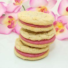 Raspberry Cream Sandwich Cookies
