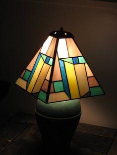 prairie white and blue lampshade