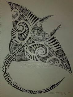 Polynesian Manta Ray by ~Tangaroa15 on deviantART