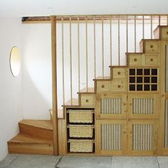 under stairs shelves designs diy | Enchanting Arranging Wooden Staircase Cabinet Shelves Rack Furniture ...