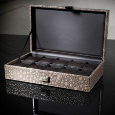 Horlogekist Gisoni Parata Limited edition croco   Alleen bij Kish.nl, luxe horlogebox Gisoni Croco