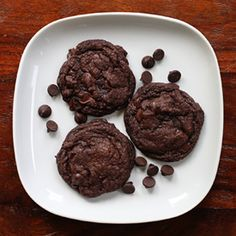 Gooey, rich & chewy...  Double Chocolate Espresso Chip Cookies!
