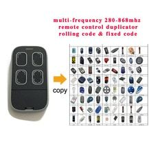 Auto Scan Multi Frequency 280mhz 868mhz Adjustable Cloning Universal Garage Remote Control Duplicator 433 868 Garage Door Opener Remote Remote Control Remote