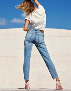 Hailey Baldwin Does Her Best Claudia Schiffer in H&M's Denim Days Campaign