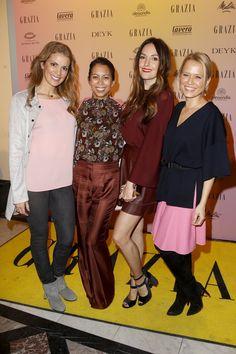 Pin for Later: Die Stars besiedeln Berlin bei der Fashion Week Julia Dietze, Minh-Khai Phan-Thi, Johanna Klum und Nova Meierhenrich bei einem Event