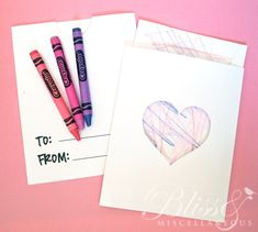 Toddler Valentines & Crafts (Free Printables) – Bliss & Miscellaneous