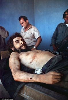 Historic: AFP photographer Marc Hutten took a series of photos showing Guevara's body afte...