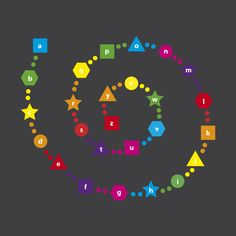 WildZebra Playground Markings Letters - Alphabet Spiral