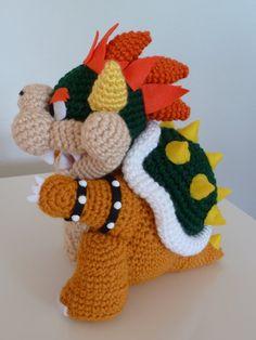 Bowser Amigurumi from Super Mario Bros Pokemon Crochet Pattern, Amigurumi Patterns, Amigurumi Doll, Crochet Patterns, Crochet Ideas, Crochet Crafts, Crochet Dolls, Crochet Projects, Mario Crochet