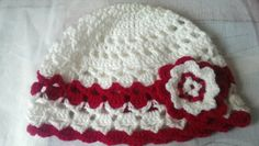Check out this item in my Etsy shop https://www.etsy.com/listing/235576697/crochet-girls-lacy-flower-hat