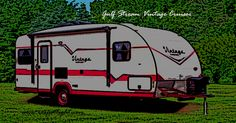 NEW Gulf Stream Vintage Cruiser Crimson and Cream Tiny House Plans, Vintage Vibes, Travel Trailers, Recreational Vehicles, Spotlight, Rv, Camping, Cream, Motorhome