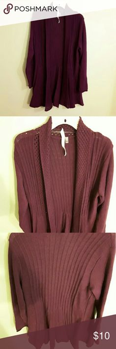 Knitted long sweater Long knitted sweater.  Maroon in color. Tops Sweatshirts & Hoodies