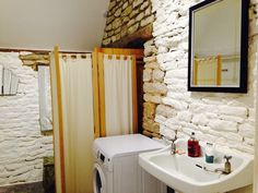 The bathroom in our Rustic Barn Studio Let.