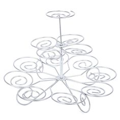 Detachable 3 Layers Iron Cake Stand 13 Cupcake Holder Cup Tray Table Decoration