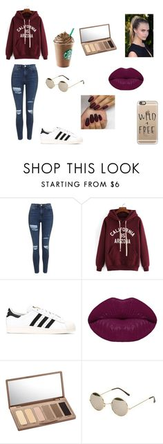 """Casual day/made by sofia"" by alex-hdez on Polyvore featuring moda, Topshop, adidas Originals, Winky Lux, Urban Decay y Casetify"
