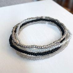 Full Moon 4 Individual Beaded Bracelet Set Stretch Bracelets | Etsy