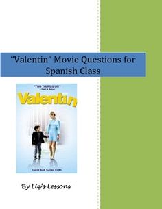 "Show the film ""Valentin"" in your Spanish classes! The activity includes 10 fill in the blank comprehension questions in Spanish, and a writing activity that requires students to use the ""imperfecto"". The questions also come with an answer key."