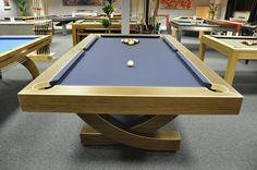 "Handmade, Bespoke Pool Tables by www.designerbilliards.co.uk   ""I don't always dream of having my own billiards table; but, when I do, I dream of this one."""